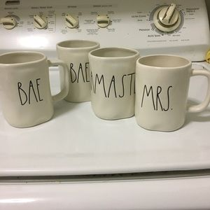 Set of 4 Rae Dunn Mug Set